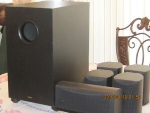 DENON SPEAKER SYSTEM and PANASONIC A/V CONTROL RECEIVER