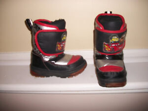 bottes hiver flash mcqueen