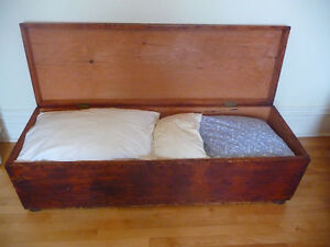 Large Antique Blanket Box