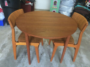 Vintage Teak Table and 2 Chairs for sale