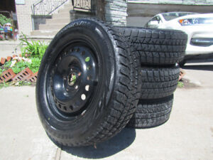 Bridgestone Blizzak Winter Tires on Rims
