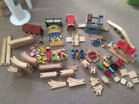 Huge wooden train set-bigjigs, Thomas, elc, brio