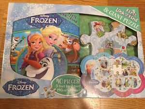 New Frozen large look & find book and giant puzzle