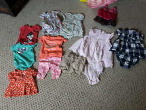 A TON OF 6 MONTH BABY GIRL CLOTHES