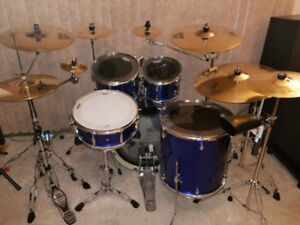 Pearl Drum Set with Sabian & Wuhan Cymbals
