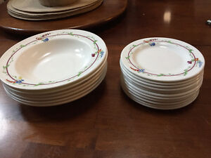 Royal Doulton Bowls and Bread Plates Flowery Design