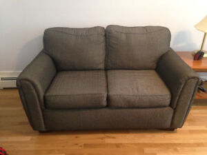 Gray loveseat for sale