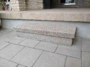 2 Concrete steps with pebbled finish