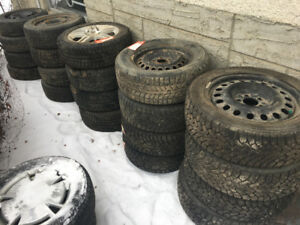 6 different set of winter tires for sale