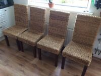 Next wicker dining room chairs (4)