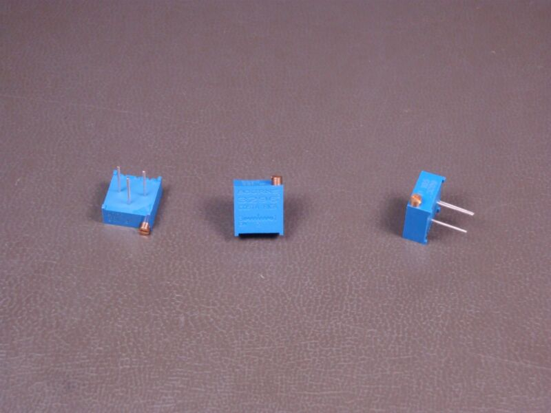 "Lot of 3 3296P-1-105 Bourns 3/8"" Trimpot Trimming Potentiometer 1M Ohm 10% NOS"