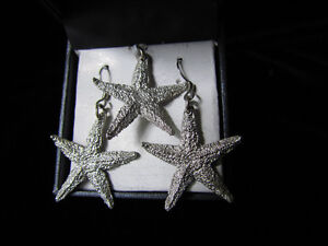 Starfish Drop Earrings and Pendant by Amos Pewter