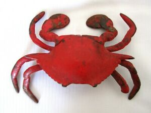 ENCRIER ANTIQUE en METAL..CRABE // CRAB ANTIQUE METAL  INK WELL.