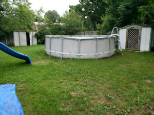 16ft intex pool works perfectly