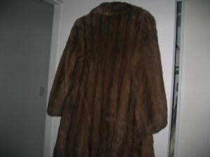 REAL MINK FUR COAT FULL LENGT