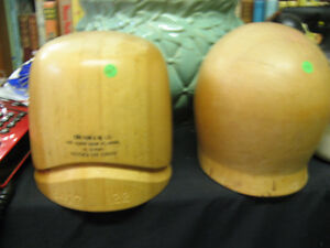 VTG Wood Wooden Hat Block Form Mold West Island Greater Montréal image 1