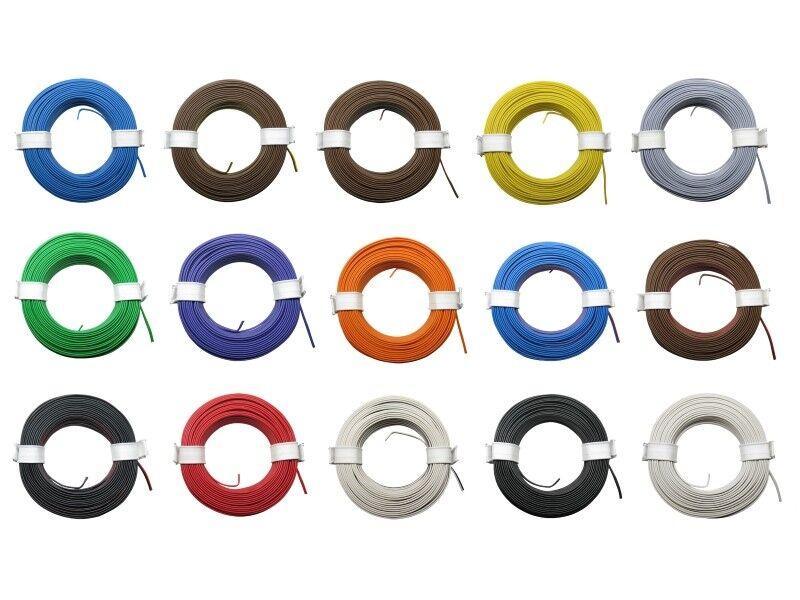 10m Kabel Litze Zwillingslitze 2x0,08mm² Schaltlitze 10 Meter Ring Farbe wählbar