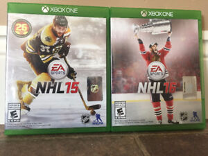 NHL 15 & 16 for XBOX ONE