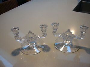 Cornflower by W.J. Hughes 2 double candle holders