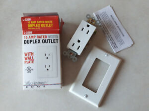 Duplex Receptacles with Cover Plate