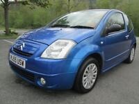 05/55 CITROEN C2 1.0 SX 3DR HATCH IN BLUE WITH ONLY 58,000 MILES (P/X TO CLEAR)