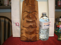Native Art - Solid Wood Carving - Unique - From Hawaii, signed
