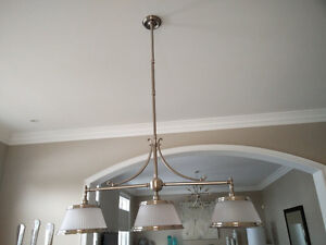 Brushed nickel Ceiling table light & Ceiling pair for bar/island