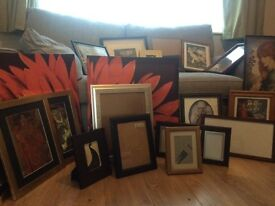 REDUCED!!! Large Job Lot of Pictures/Frames Ideal for Car Boot/home furnishing