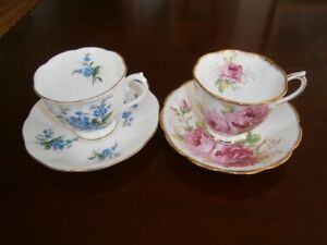 TWO LOVELY ROYAL ALBERT CUP AND SAUCER SETS