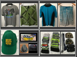 MENS XS / BOYS SIZE 14-16 NAME BRAND LOT (SOME NEW ITEMS)