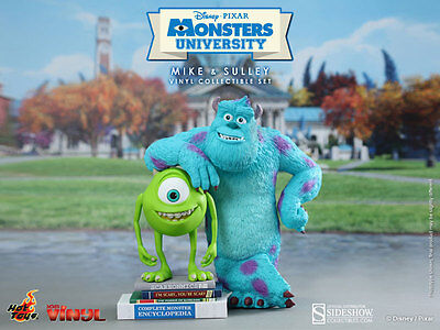 HOT TOYS DISNEY MONSTERS UNIVERSITY MIKE AND SULLEY COLLECTIBLE FIGURE SET ~NEW~ ()