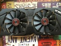 Asus gtx970 strix graphics card air cooler memory heatsink and backplate
