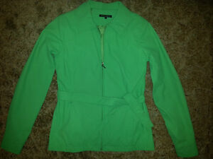 Green Coat with Belt Size S