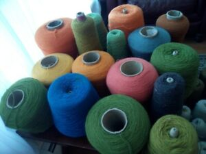 Large lot of rug wool/yarn