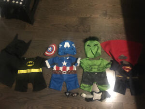 Build a Bear Marvel clothing/accessories