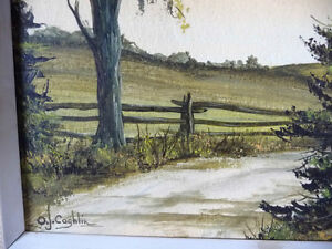 3 Original Oil Paintings from a Series by O.J. Coghlin Stratford Kitchener Area image 2