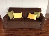 Brown Pull Out couch/Sofa Bed