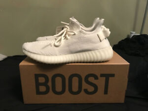 Authentic Yeezy V2 Triple White Boost