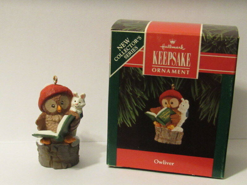 Owliver 1992 Little Owl Is 1St In The Owliver Series Hallmark Christmas Ornament