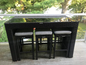 Outdoor Patio Table for 6 - Bar height