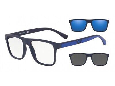 Occhiali Sole Emporio Armani EA4115 57591W Blu Clip-on Blu Fumo