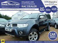 CAR FINANCE FROM JUST 4.9% Mitsubishi L200 2.5 DI-D CR Barbarian LB 4WD 4dr