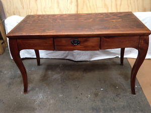 Solid Pine Entry/Console table w/ Provincial legs