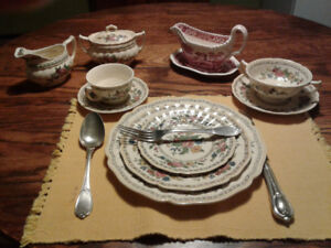 Antique china and silverware for sale