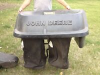 John Deere Tractor leaf bagger attachment