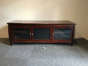 "60"" Walnut finish TV Stand"