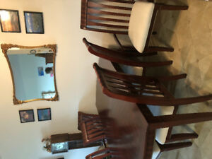 Solid Cherry Wood Table w/ 6 chairs