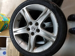 OEM Lexus Alloy Rim with 215/45/17 tires (95% tread)