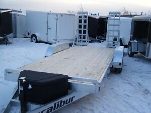 2017 EXCALIBUR GALVANIZED 7 TON LOW BED BOBCAT/EQUIP TRAILER Kingston Kingston Area image 2