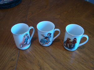 Norman Rockwell Mugs - 3 Different